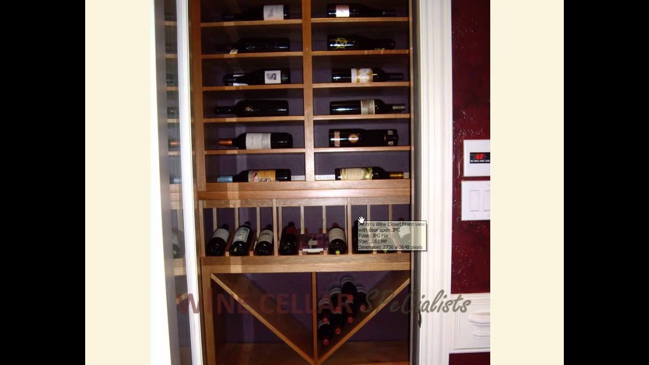 How to convert a closet into a custom wine cellar dallas for Turn closet into wine cellar