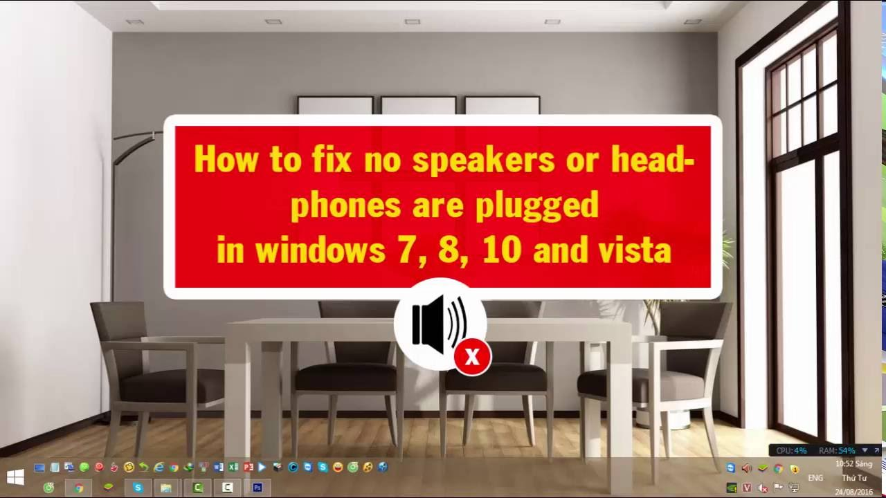 how to fix no speakers or headphones are plugged in windows 7 810 vista