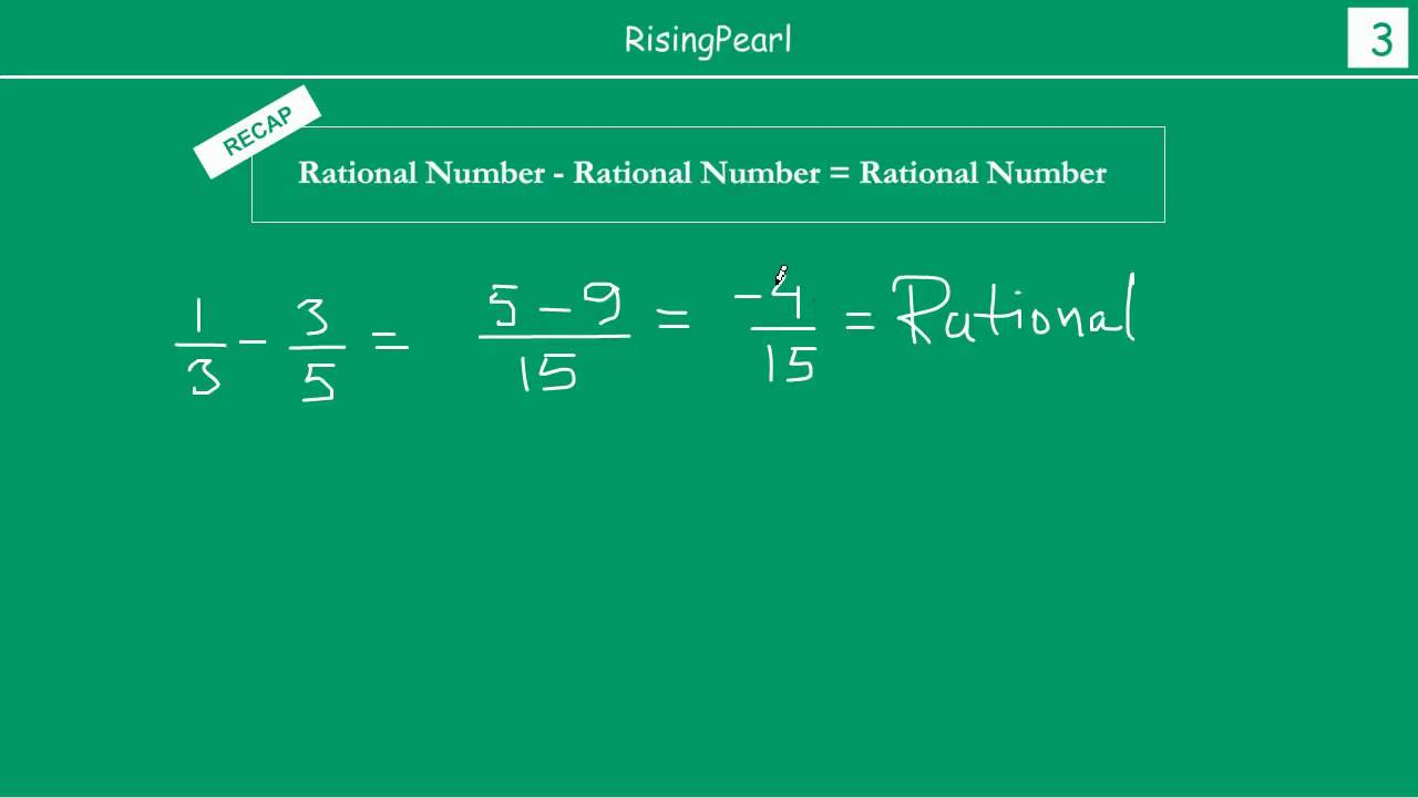worksheet Subtracting Rational Numbers addition subtraction multiplication and division of rational numbers 1 3