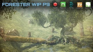 Environment creation with Redshift, Megascans, 3dsmax, SpeedTree and ForestPack. Part 2.