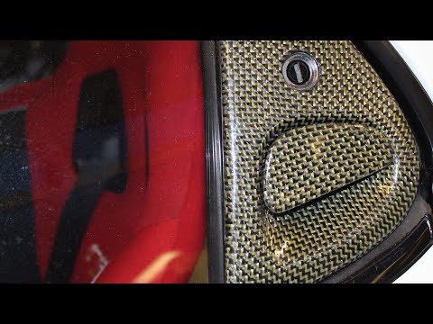 How To : Carbon Kevlar Skinning Car Parts : RX7 Door Handles