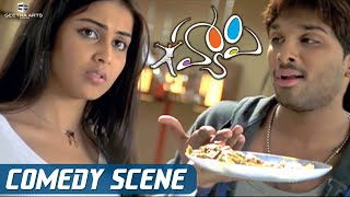 Allu Arjun Gets Caught to his Friends 😂 | Genelia | Manoj Bajpai | Happy Movie Comedy Scenes