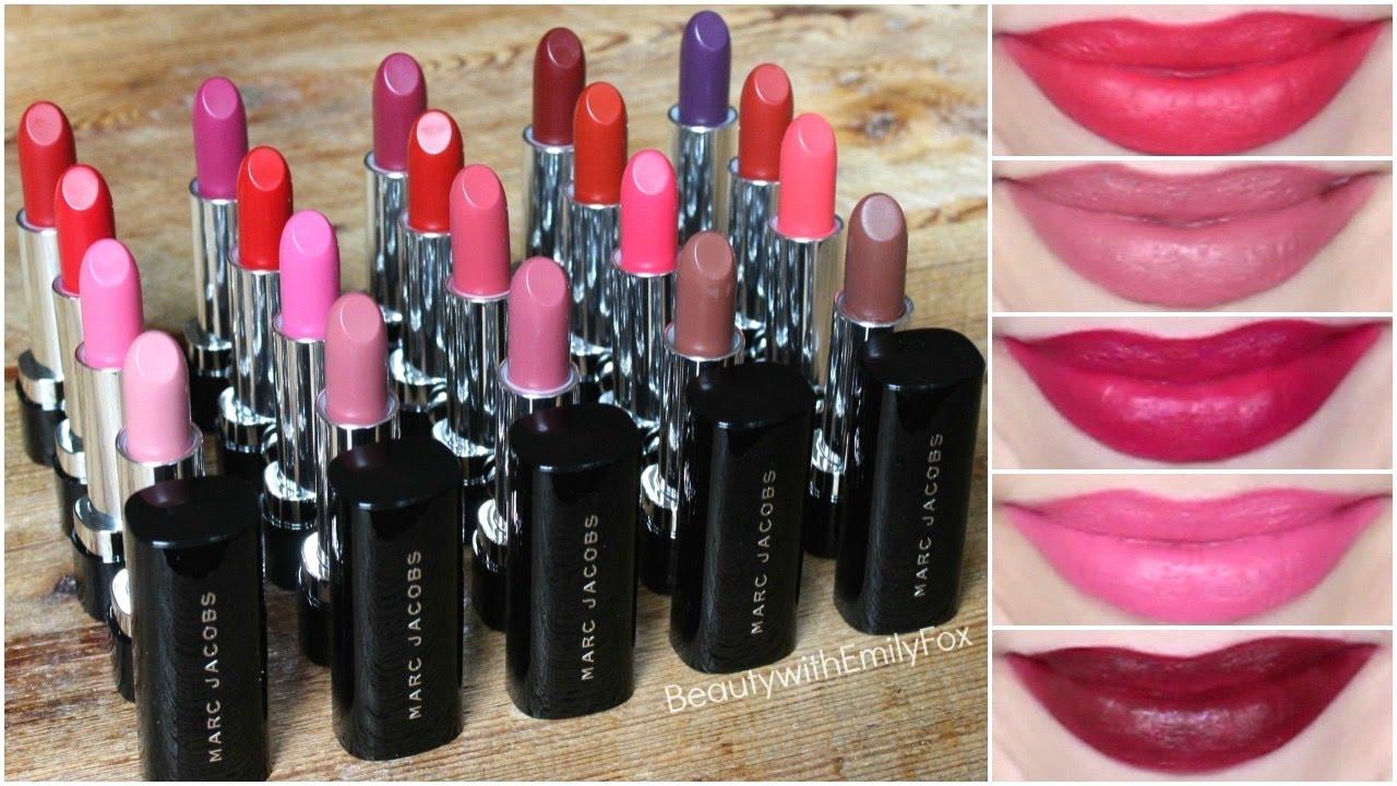 2a2291c82631 Marc Jacobs Le Marc Lip Creme Lipsticks Review + Lip Swatches - YouTube