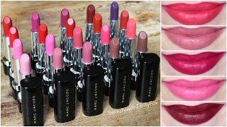 Marc Jacobs Le Marc Lip Creme Lipsticks Review + Lip Swatches