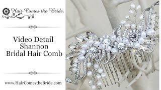 Rhinestone and Pearl Bridal Hair Comb by Hair Comes the Bride - Shannon
