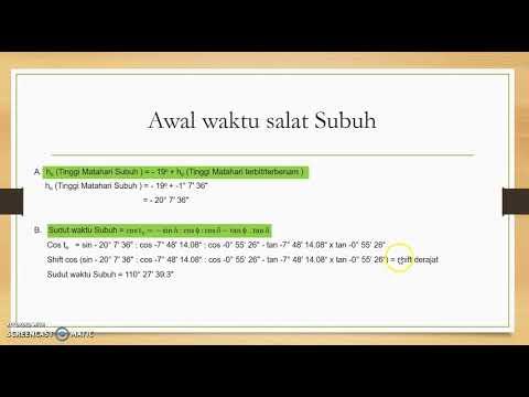 6   Hisab waktu salat Subuh dan Imsak