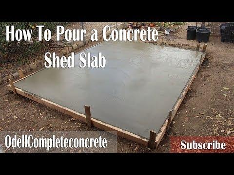 How to Pour a Concrete Shed Slab! DIY!