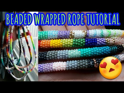 Beaded Wrapped Rope Tutorial