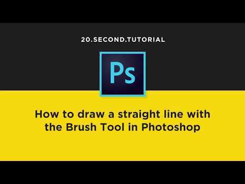 Painting Straight Lines With The Brush Tool In Photoshop | Adobe Photoshop Tutorial #17