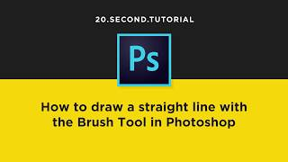 How to draw a straight line with the Brush Tool: Photoshop Tutorial #17