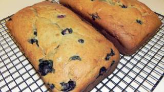 Blueberry Banana Bread Recipe - Makes 2 Loafs
