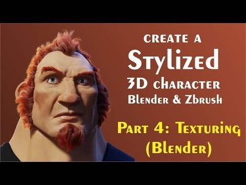 Tips for creating 3d Characters (Blender) Part 4 - Skin Texturing