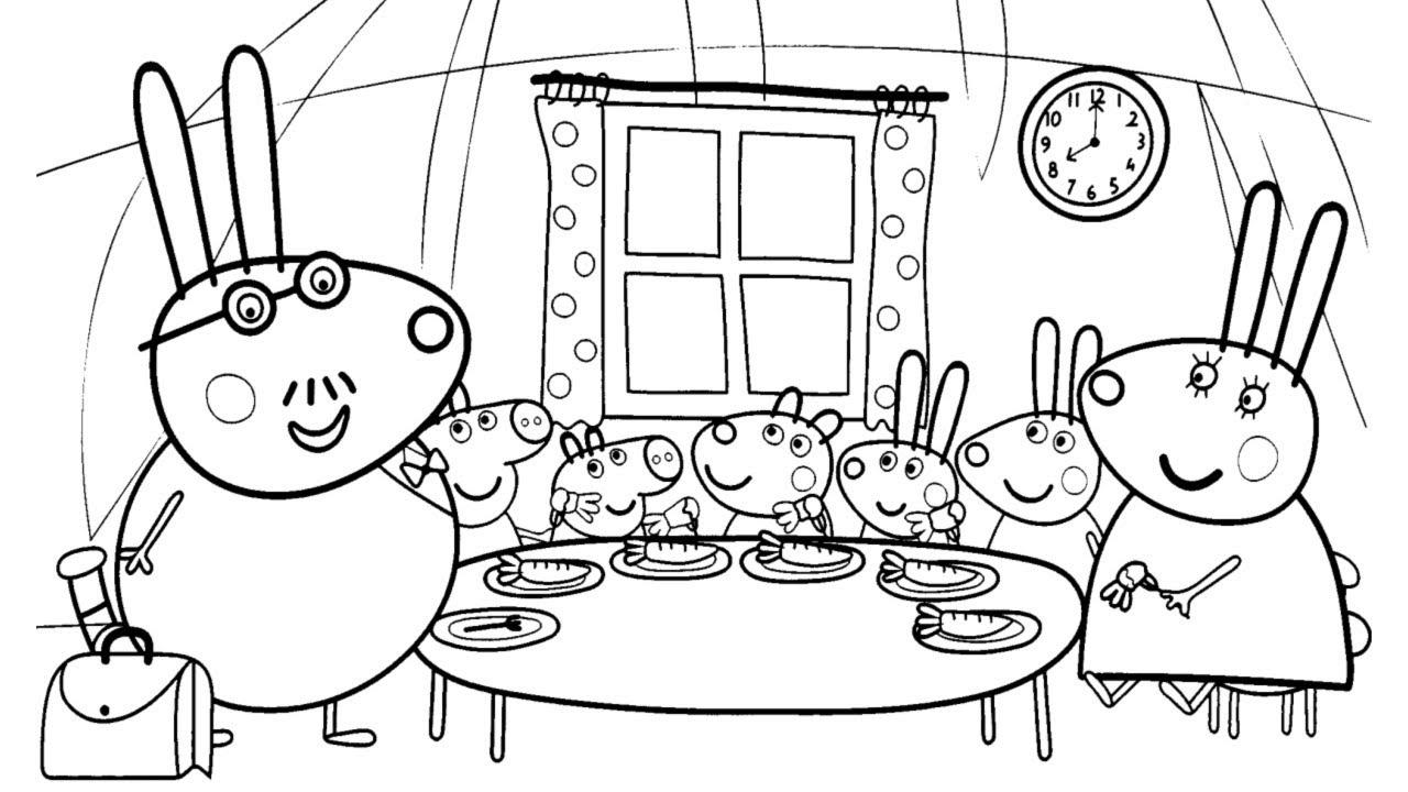 Pascoa Especial Pintar Desenho Da Peppa Pig Com A Familia Coelho