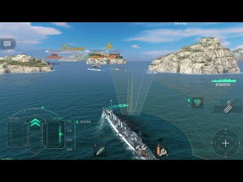 World Of Warships Blitz - Wickes Gameplay