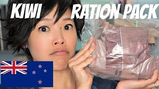 Emmy Eats a New Zealand Operation Ration Pack