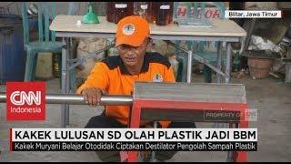 Kakek Lulusan SD Olah Plastik Jadi BBM