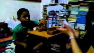 ABA session with a nonverbal autistic child