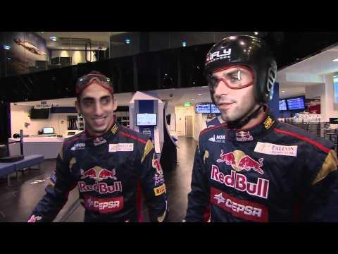 Buemi and Alguersuari at iFly - Indoor Skydiving - Scuderia Toro Rosso
