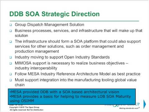 The Open Group Service Integration Maturity Model (OSIMM)