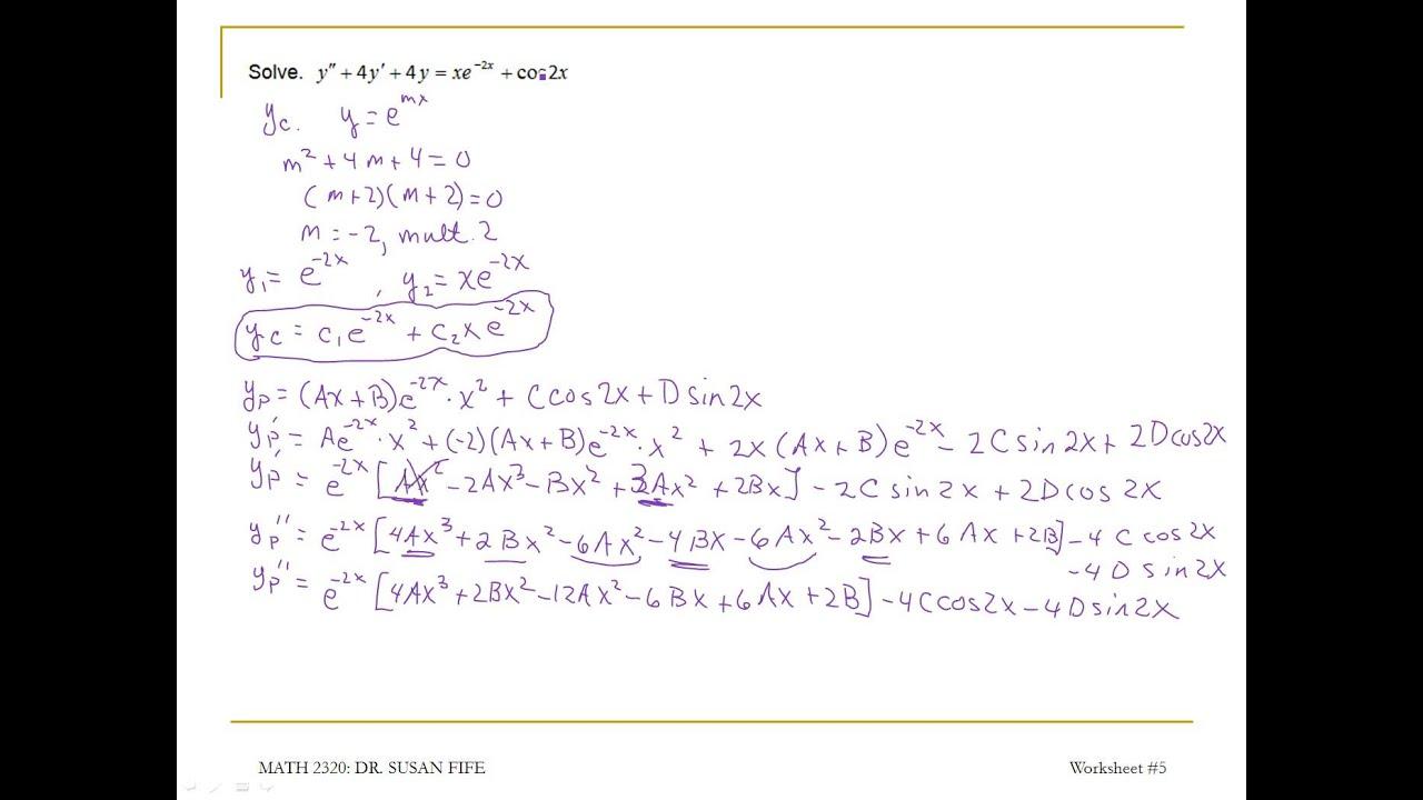 worksheet Solve For Y Worksheet all grade worksheets solving for y worksheet differential equations youtube