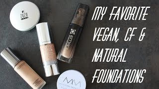 5 AWESOME VEGAN & NATURAL FOUNDATIONS