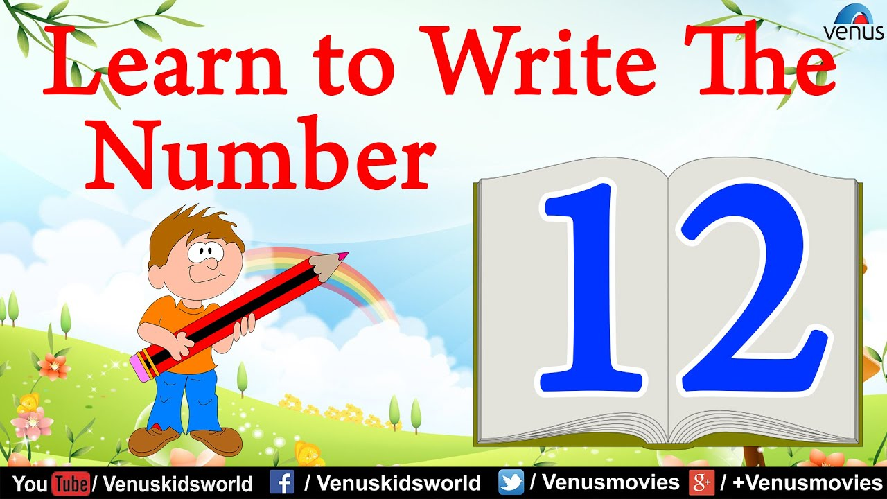 Learn To Write The Number 12