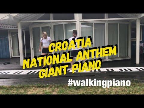 Croatia's National anthem on a Giant piano - Lijepa naša domovino