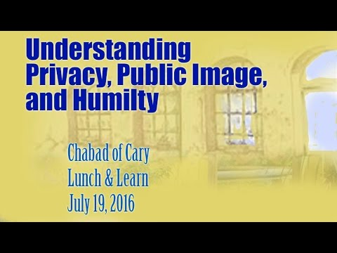 Understanding Privacy, Public Image and Humility