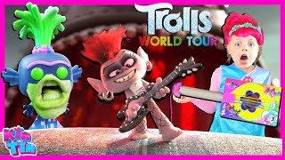 Trolls Poppy World Tour Party Songs With Barb | Trolls Movie Pretend Play | Poppy VS Queen Barb!