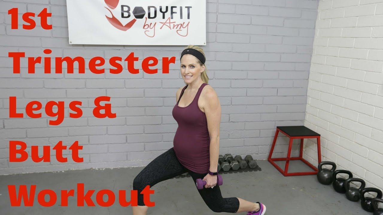 a94a6a2561d99 15 Minute First Trimester Prenatal Legs & Butt Workout-- Good for 2nd & 3rd  Trimesters, too.