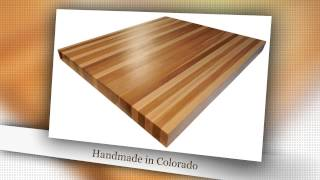 Edge Grain Calico Hickory Butcher Block Countertop By Armani Fine Woodworking