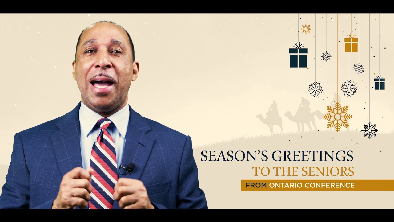 Season's greetings for seniors | Pastor Mansfield Edwards
