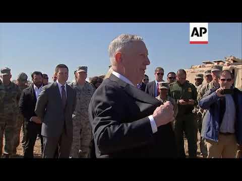 Mattis, Nielsen address US troops at border