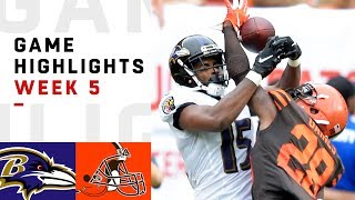 Ravens vs. Browns Week 5 Highlights | NFL 2018
