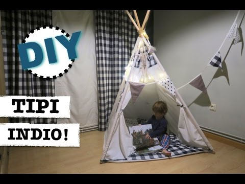 HOW TO MAKE A TEEPEE FOR CHILDREN OR PETS