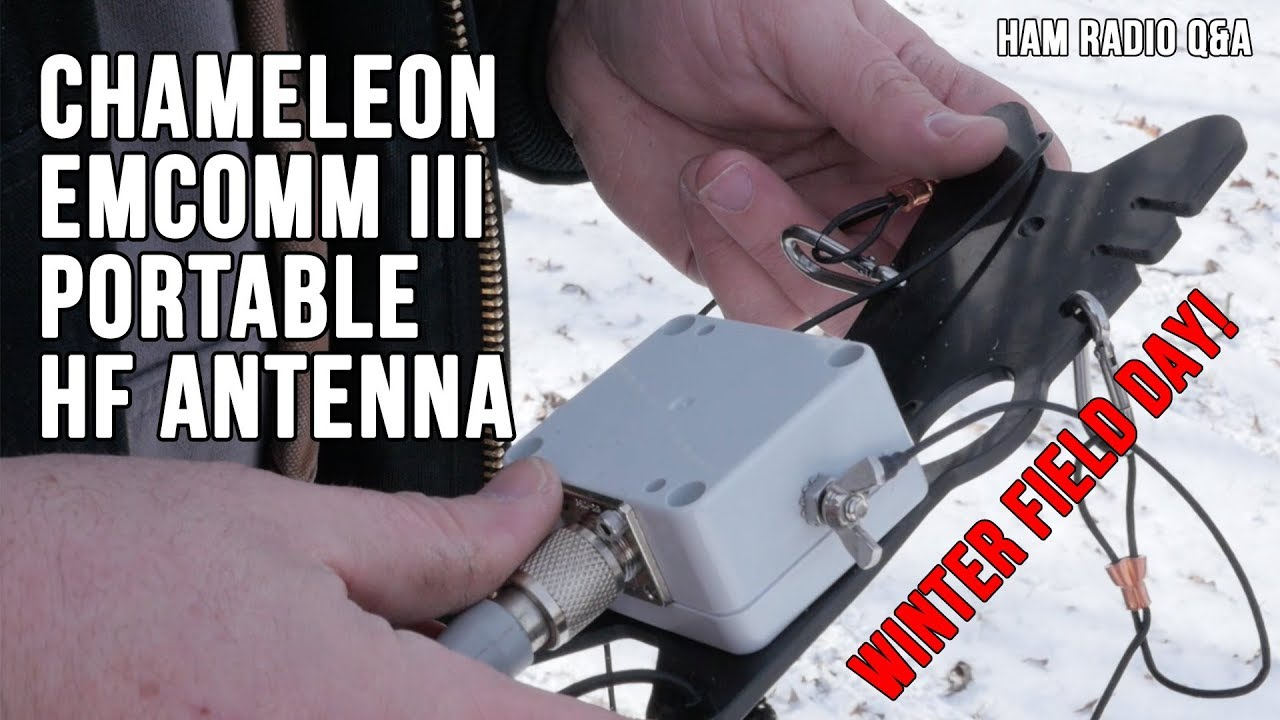 Chameleon Emcomm III Portable Antenna (Winter Field Day