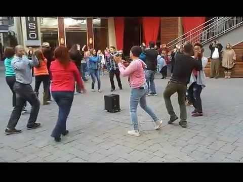 Rueda de Casino Flash Mob 2015 - Charlotte, NC - Epicentre 03-28-15