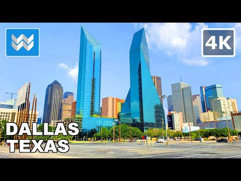 Walking Tour of Downtown Dallas, Texas USA 2020 Travel Guide 🎧【4K】