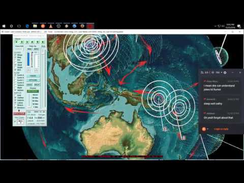 12/25/2016 -- Large S. America M7.7 earthquake -- Forecast areas hit -- New areas on watch