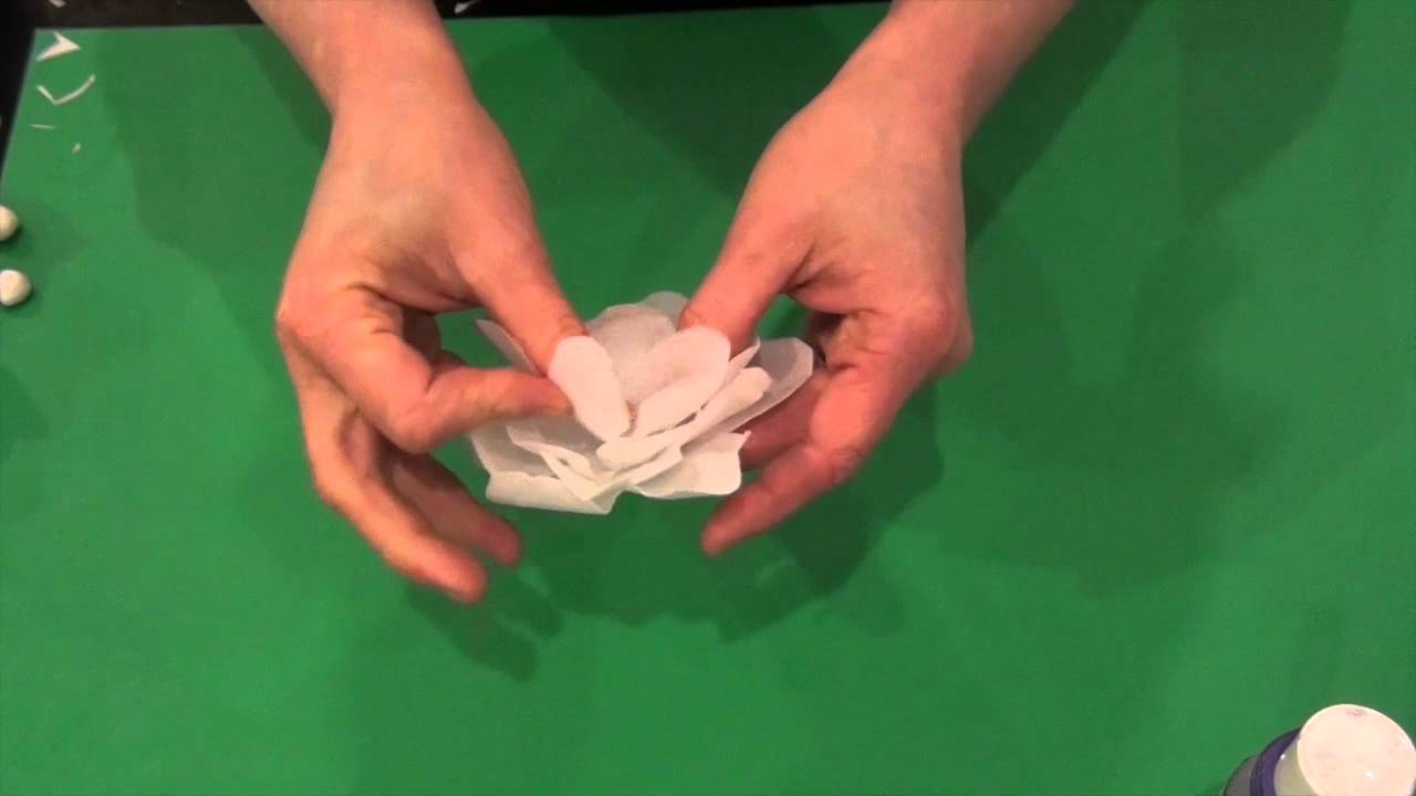 Simple Wafer Paper Flower Tutorial Youtube