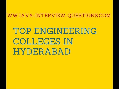 Top Engineering Colleges in Hyderabad 2016