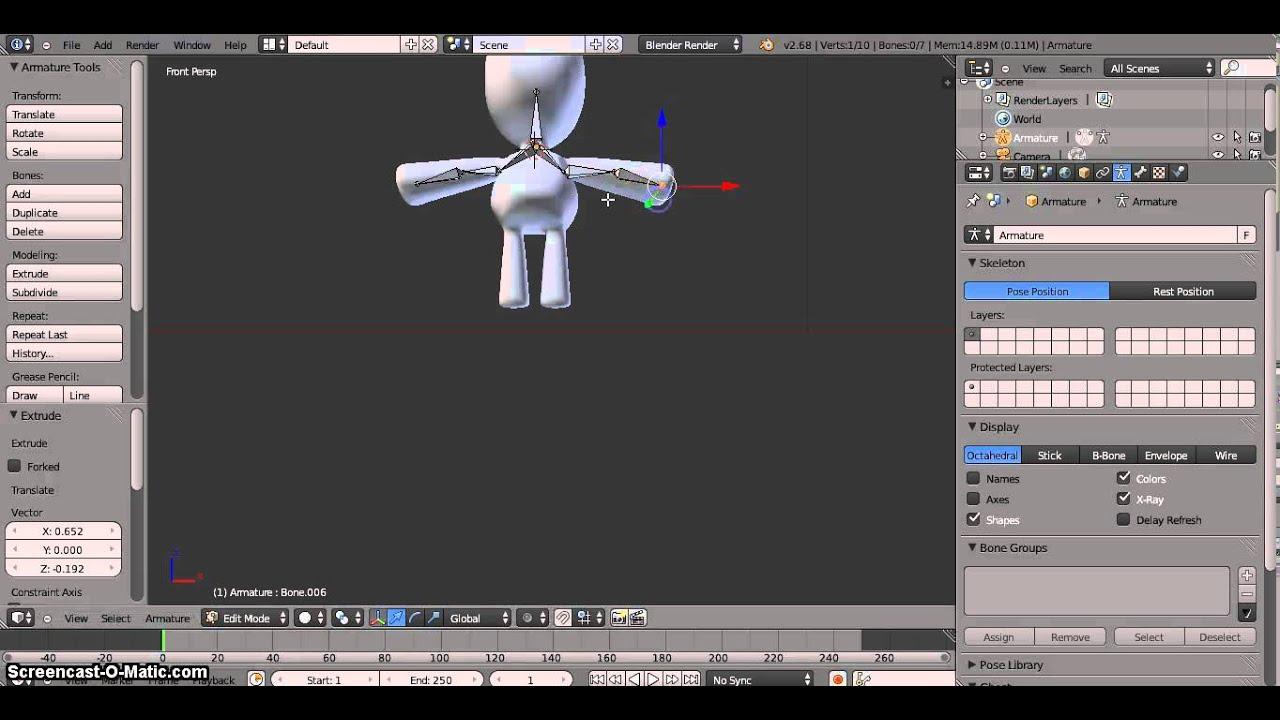 Membuat Animasi Sederhana Di Blender Youtube
