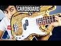 Playing a CARDBOARD Bass Guitar
