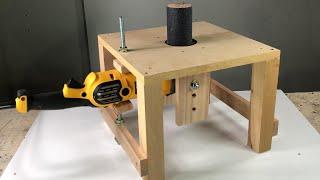 Idea brillante con una amoladora angular - Tambor Lijador