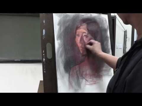 Pastel portrait painting demo by James Wu