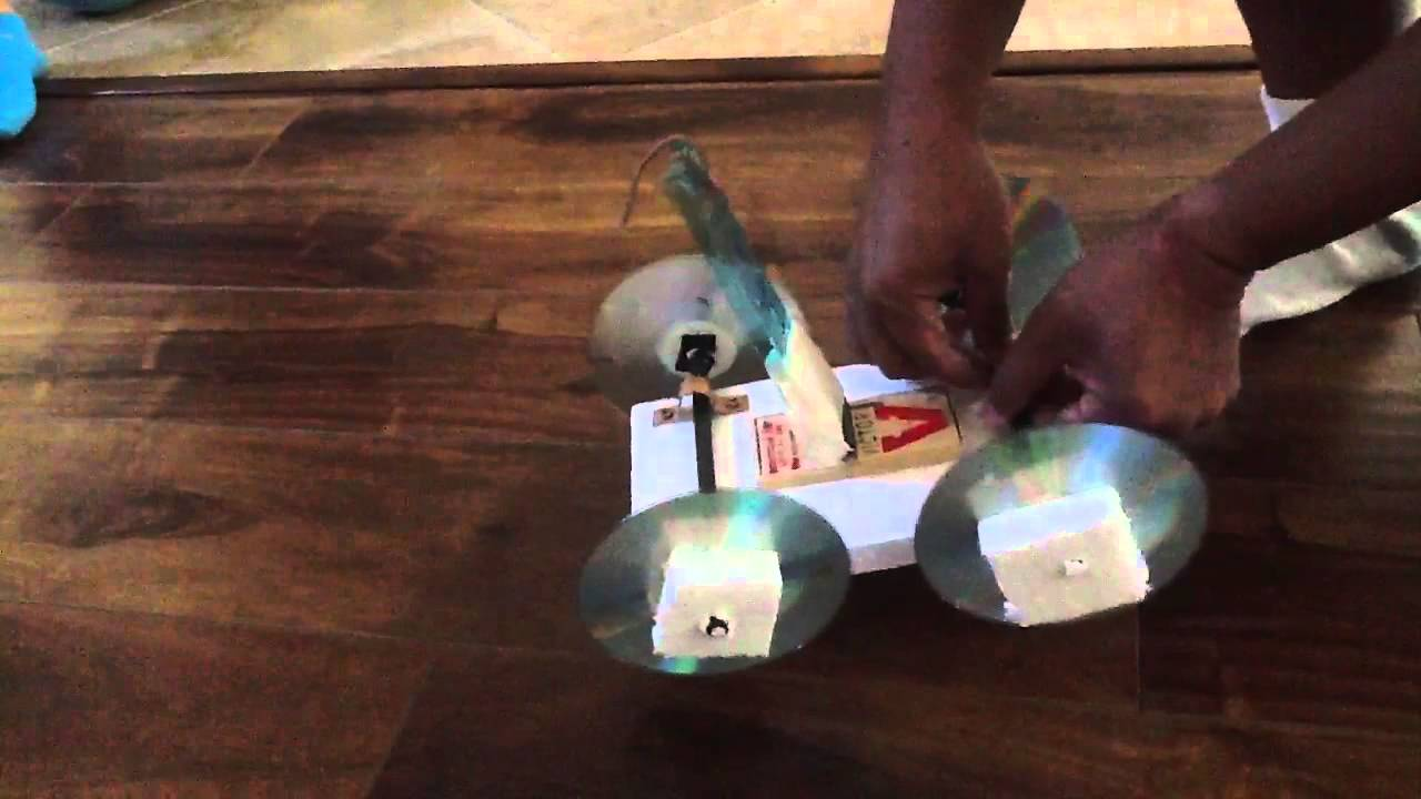Physics Mousetrap Car Project Test Youtube