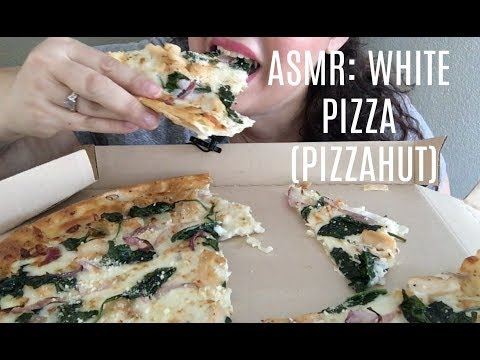 ASMR: WHITE PIZZA (Pizza Hut) *EATING SOUNDS*