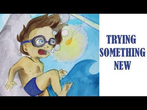 Children's Book Illustration Speed Painting // Art Addicts Alliance (Magical Sea Creatures)