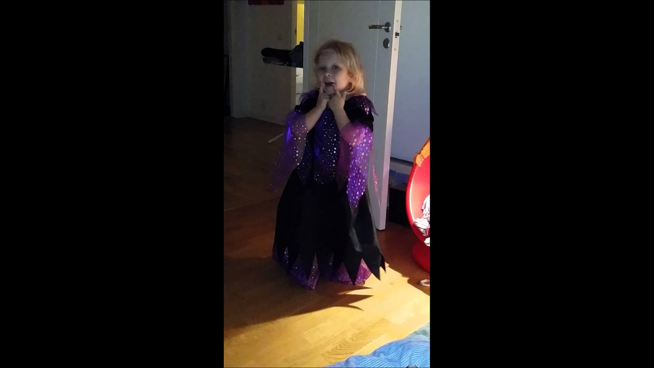 Matilda is singing in Halloween costume - YouTube