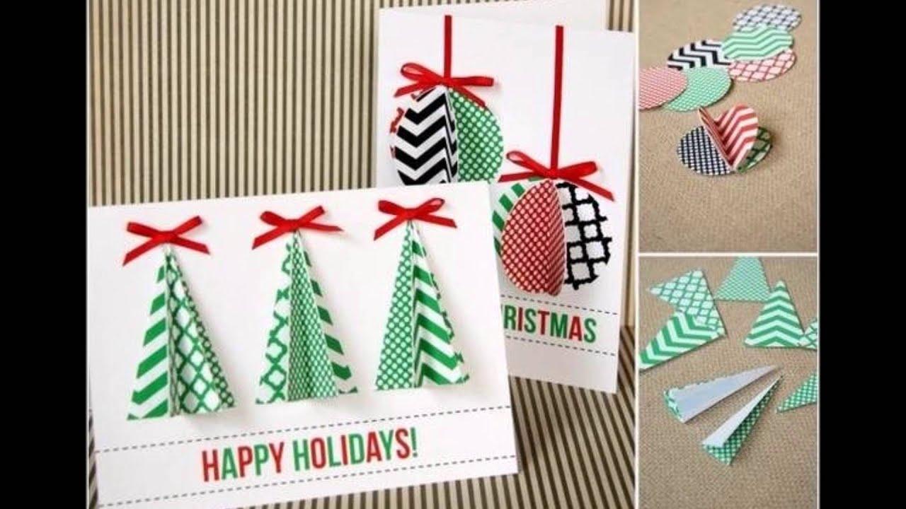 Для открытки, легкие самодельные открытки на новый год
